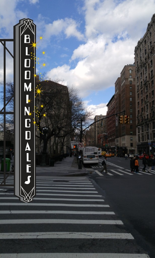 A Bloomingdales sponsored Snapchat Geofilter, located across Manhattan.