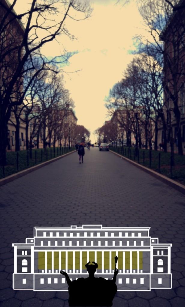 Columbia University Hall Snapchat Geofilter