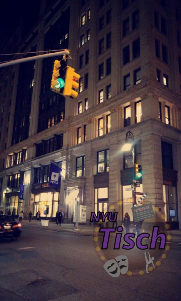NYU Tisch Snapchat Geofilter